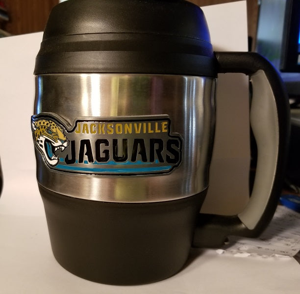 NFL Jacksonville Jaguars Heavy Duty Insulated Macho Mug  52 oz