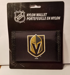 NHL Vegas Golden Knights Nylon Trifold Wallet