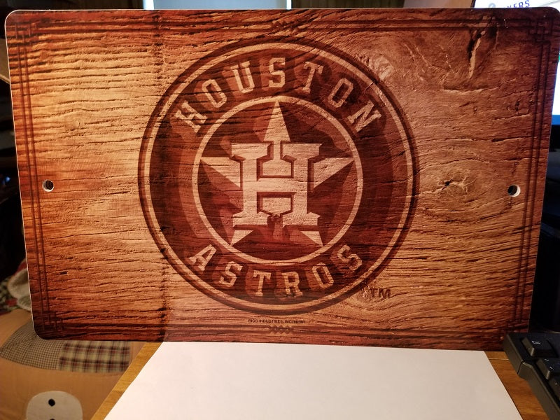 "MLB Houston Astros Fantique Wall Sign 17"" X 11"" X 1/4"" (Read Description)"