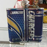 NFL San Diego Chargers 6oz Stainless Steel Flask with 360 Hi-Def Metallic Wrap - Hockey Cards Plus LLC  - 2