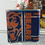NFL Chicago Bears 6oz Stainless Steel Flask with 360 Hi-Def Metallic Wrap - Hockey Cards Plus LLC  - 2