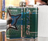 NHL Dallas Stars 6 oz Hip Flask with 360 Wrap - Hockey Cards Plus LLC  - 2