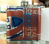 NHL Montreal Canadiens 6 oz Hip Flask with 360 Wrap - Hockey Cards Plus LLC  - 2