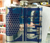 NFL Indianapolis Colts 6oz Stainless Steel Flask with 360 Wrap - Hockey Cards Plus LLC  - 2