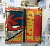 NFL Kansas City Chiefs 6oz Stainless Steel Flask with 360 Wrap - Hockey Cards Plus LLC  - 2