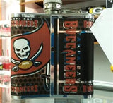 NFL Tampa Bay Buccaneers 6oz Stainless Steel Flask with 360 Wrap - Hockey Cards Plus LLC  - 2