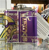 NFL Minnesota Vikings 6oz Stainless Steel Flask with 360 Wrap - Hockey Cards Plus LLC  - 2