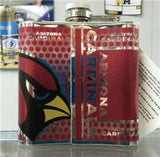 NFL Arizona Cardinals 6oz Stainless Steel Flask with 360 Wrap - Hockey Cards Plus LLC  - 2