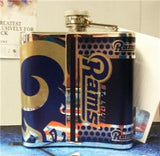 NFL St. Louis Rams 6oz Stainless Steel Flask with 360 Wrap - Hockey Cards Plus LLC  - 2