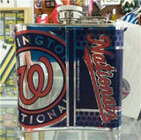 MLB Washington Nationals 6oz Stainless Steel Flask with 360 Wrap