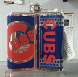MLB Chicago Cubs 6oz Hip Flask with Hi-Def Metallic Wrap