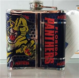 NHL Florida Panthers 6 oz Stainless Steel Hip Flask with 360 Wrap - Hockey Cards Plus LLC  - 2