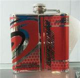 NHL Carolina Hurricanes 6 oz Stainless Steel Hip Flask with 360 Wrap - Hockey Cards Plus LLC  - 2