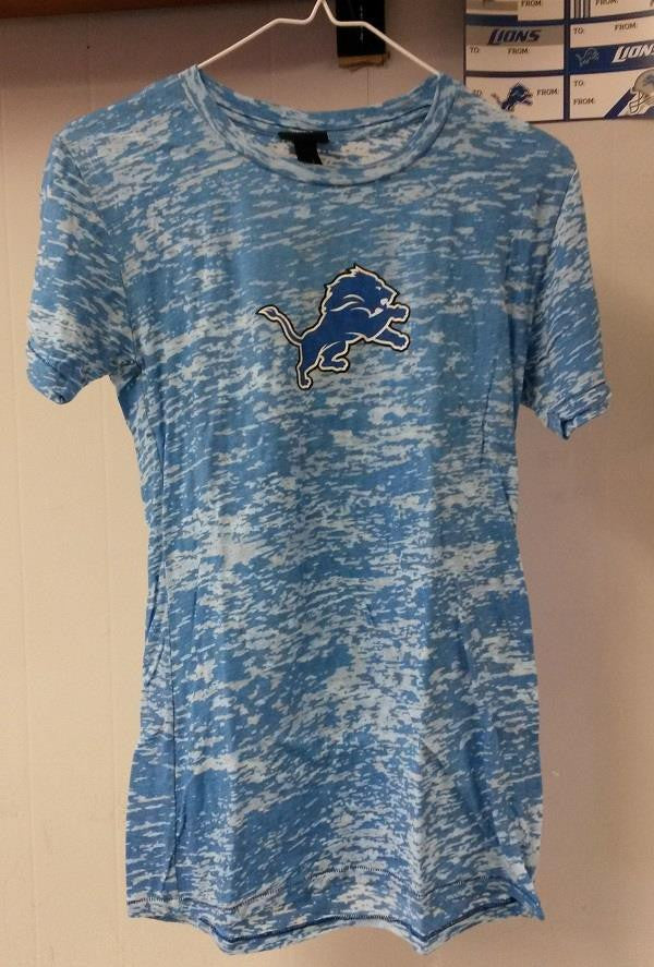 NFL Detroit Lions Burnout Women's Junior T-Shirt - Hockey Cards Plus LLC