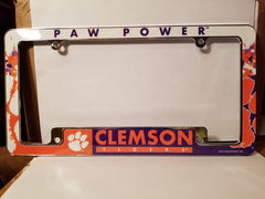 NCAA Clemson Tigers All Over Chrome License Plate Frame
