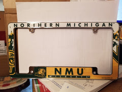 NCAA Northern Michigan Wildcats All Over Chrome License Plate Frame