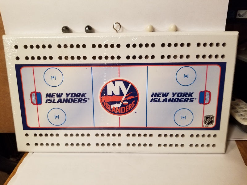 NHL New York Islanders Rink Style Cribbage Board