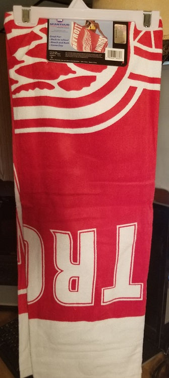 "NHL Detroit Red Wings 30"" X 60"" Fiber Beach Towel"