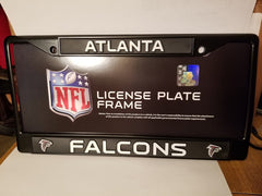 NFL Atlanta Falcons Black Chrome License Plate Frame