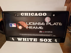 MLB Chicago White Sox Black Chrome License Plate Frame