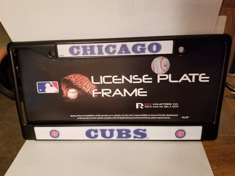 MLB Chicago Cubs Black Chrome License Plate Frame