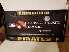 MLB Pittsburgh Pirates Black Chrome License Plate Frame