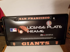 MLB San Francisco Giants Black Chrome License Plate Frame