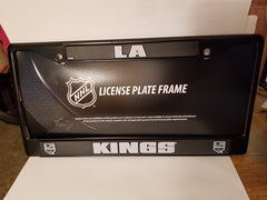 NHL Los Angeles Kings Black Chrome License Plate Frame