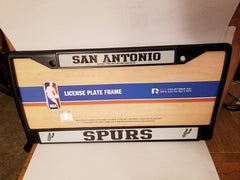NBA San Antonio Spurs Black Chrome License Plate Frame