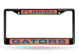 NCAA Florida Gators Black Laser Cut Chrome License Plate Frame