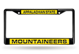 NCAA Appalachian State Mountaineers Black Laser Cut Chrome License Plate Frame