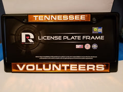 NCAA Tennessee Volunteers Black Laser Cut Chrome License Plate Frame
