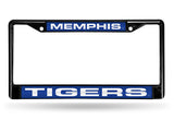 NCAA Memphis Tigers Black Laser Cut Chrome License Plate Frame