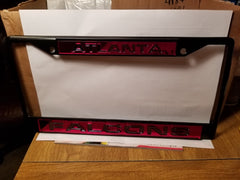 NFL Atlanta Falcons Black Laser Cut Chrome License Plate Frame