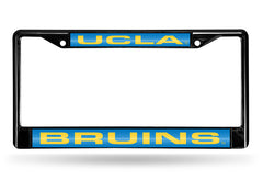NCAA UCLA Bruins Black Laser Cut Chrome License Plate Frame