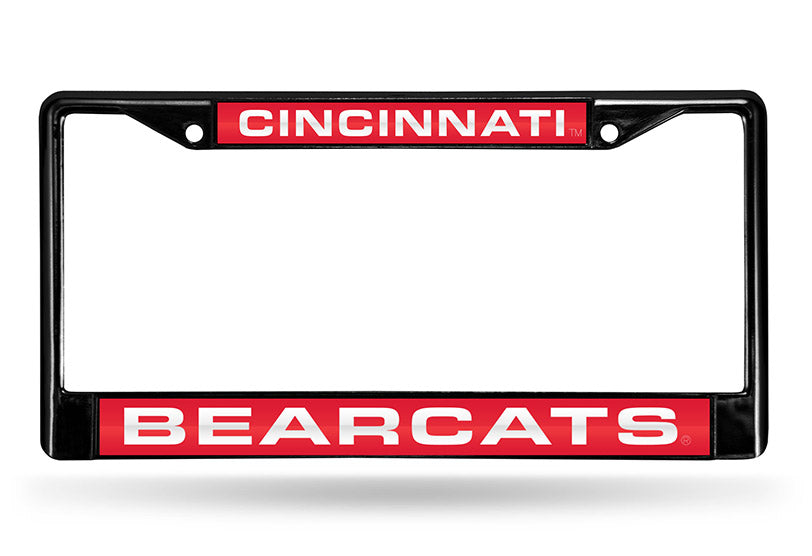 NCAA Cincinnati Bearcats Black Laser Cut Chrome License Plate Frame