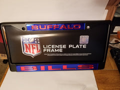 NFL Buffalo Bills Black Laser Cut Chrome License Plate Frame