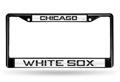 MLB Chicago White Sox Black Laser Cut Chrome License Plate Frame