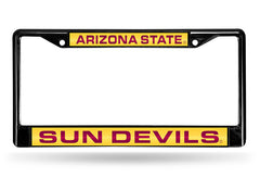 NCAA Arizona State Sun Devils Black Laser Cut Chrome License Plate Frame