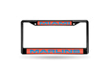 MLB Miami Marlins Black Laser Cut Chrome License Plate Frame