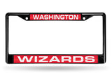NBA Washington Wizards Black Laser Cut Chrome License Plate Frame