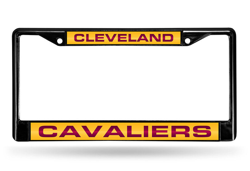 NBA Cleveland Cavaliers Black Laser Cut Chrome License Plate Frame