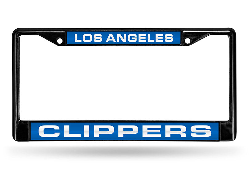 NBA Los Angeles Clippers Black Laser Cut Chrome License Plate Frame