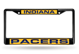 NBA Indiana Pacers Black Laser Cut Chrome License Plate Frame