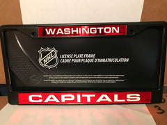 NHL Washington Capitals Black Laser Cut Chrome License Plate Frame