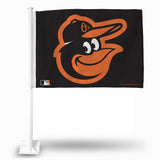MLB Baltimore Orioles Bird Car Flag - Hockey Cards Plus LLC