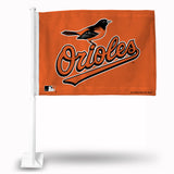 MLB Baltimore Orioles Logo Car Flag - Hockey Cards Plus LLC