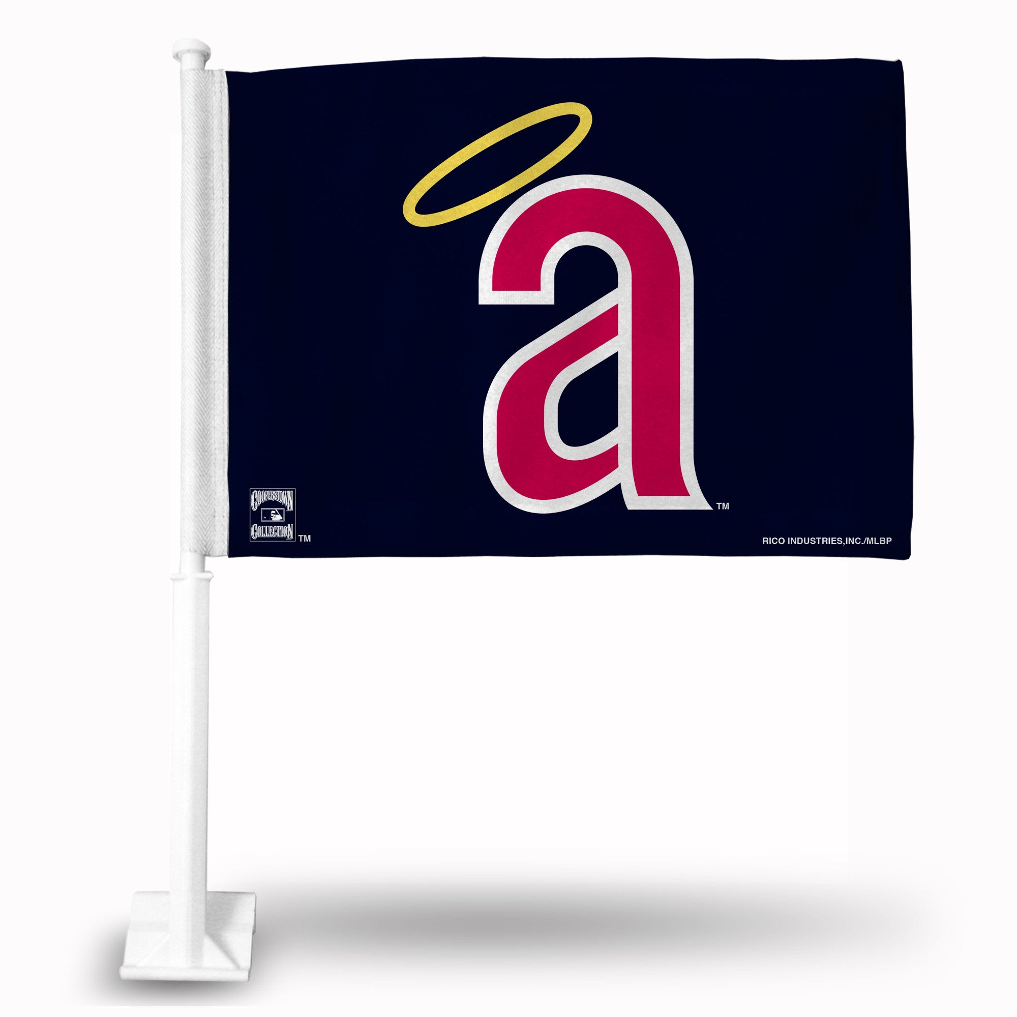 MLB Los Angeles Angels Coopertown Car Flag - Hockey Cards Plus LLC