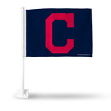 MLB Cleveland Indians Alternate Logo Car Flag - Hockey Cards Plus LLC