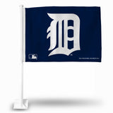 MLB Detroit Tigers Logo Car Flag - Hockey Cards Plus LLC